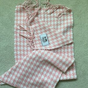 Light pink and white Coach Scarf